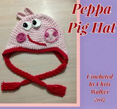 I saw a similar paid pattern for this peppa pig hat and thought I'd give it a go for myself using my own knowledge of crochet for the face pieces. I used a free pattern for the hat I have used before from www.lakeviewcottagekids.com and this is how it turned out! Pretty happy with the results.