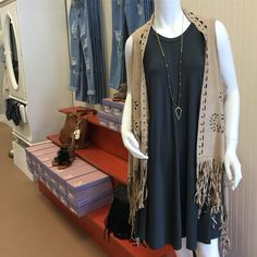 L😍VE, L😍VE, L😍VE this outfit!!! Dress by UMGEE, vest is just gorgeous!!! Necklace amazing!!!! Come in and see what you can put together @ Tree of Life Supplements, Gifts & More   #boutique  treeoflifesgm@yahoo.com