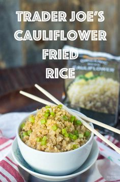 Learn how to make homemade Cauliflower Fried Rice using Trader Joe's Riced Cauliflower... simple, healthy, easy, DELICIOUS ((gluten free, grain free, vegetarian & paleo!))