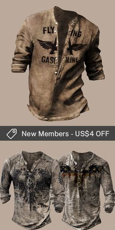 Up to 45% off! Men fashion outfits and accessories holiday sale for discount, free shipping on order $69. Shop now! #sale #men #outfits #accessories #shoes #shirt #tee #fall #winter #hoodie #tactical Mens Fashion, Fashion Outfits, Mens Clothing Styles, Print Design, Long Sleeve Shirts, Shop Now, Men Shirts, Hoodies, Tees