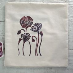 Transfer a design from paper to pillow. All it takes is a simple sketch, stencil transfer paper and watercolor paint!