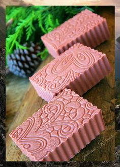 Pink soap clay with rosehip oil and rice milk Soap Maker, Bath Soap, Organic Soap, Soap Packaging, Milk Soap, Cold Process Soap, Soap Recipes, Home Made Soap, Handmade Soaps