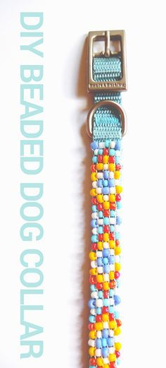 Beaded Dog Collar DIY at The Drop Stitch! This collar can be made in a weekend using a classic bead loom.