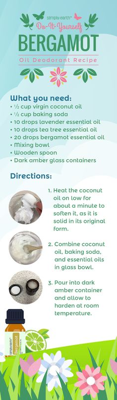 This DIY deodorant recipe is made with bergamot, lavender, and tea tree essential oils will keep you smelling clean and fresh! Kids Deodorant, Deodorant Best, Deodorant Recipes, Homemade Deodorant, Natural Deodorant, Essential Oils For Kids, Tea Tree Essential Oil, Tea Tree Oil For Acne, Bergamot Essential Oil