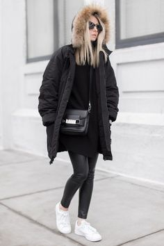 Image result for stan smith winter street style