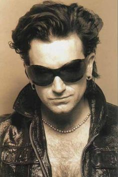 "U2 ~ BONO as his alter ego ""The Fly"". This photo was the image on my bachelorette cake."