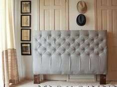 Incredible Diamond Tufted Headboard Tutorial using for my chairs! Diy Tufted Headboard, Headboards For Beds, Farmhouse Headboards, Trendy Furniture, Diy Furniture, Furniture Design, Master Bedroom Makeover, Furniture Makeover, Diy Design