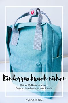 Kinderrucksack nähen nach For my children's backpack I have the free pattern of my other self just adapted. It is made of waterproof fabric and has roo Sewing Dress, Love Sewing, Sewing Hacks, Sewing Tutorials, Sewing Tips, Sewing Patterns Free, Free Pattern, Mochila Kanken, Diy Mode