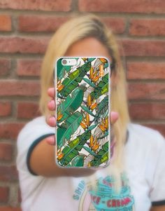 funda-movil-flores-tropical-hojas-3 Tropical, Phone Cases, See Through, Mobile Cases, Unicorn, Leaves, Flowers, Phone Case