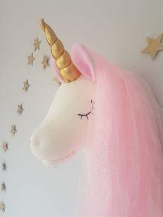 Cute Diy Room Decor, Baby Decor, Nursery Decor, Fairy Crafts, Felt Crafts, Unicorn Pillow, Unicorn Wall, Schultüte Diy, Diy For Kids