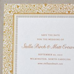 Stella Save the Date and Invitation by hellotenfold on Etsy