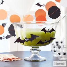 Don't let its spooky green hue fool you: This bewitching brew is filled with sweet melon and a hint of green tea. For a smoother sip, pour the drink through a fine-mesh sieve.