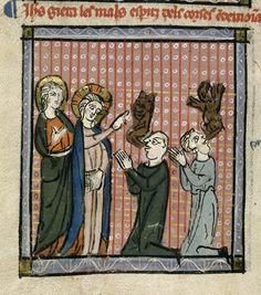 Christ healing demoniacs   Royal 19 C I   f. 165v