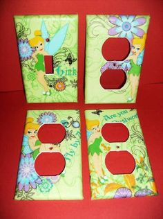 Tinkerbell Fairy Single Light Switch Plate by COUTURELIGHTPLATES, $12.00