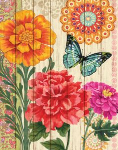 Butterflies (Decorative Art) Art Poster at AllPosters.com