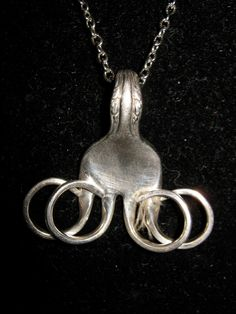 Vintage HAND CRAFTED Silver Fork Necklace by EatDiamonds on Etsy, $52.00