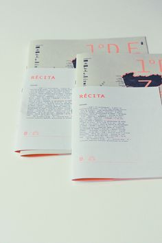 magazine and theater programm @ Gen Design Studio