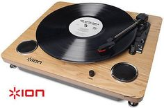 Ion Archive LP Record Player Digital Conversion Turntable Speakers Woo | Speaker-Supply