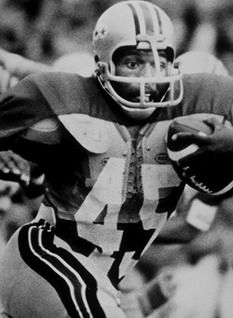 Archie Mason Griffin (born August 21, 1954) is a former American football running back. Griffin played seven seasons in the NFL with the Cincinnati Bengals. He is college football's only two-time Heisman Trophy winner. Griffin won four Big Ten Conference titles with the Ohio State Buckeyes and was the first player ever to start in four Rose Bowls.      Note: A different Sportsman of the Year award is presented by Sports Illustrated magazine. 1975 - Archie Griffin, Ohio State football