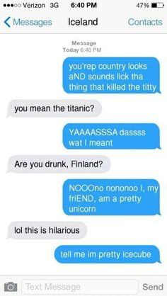 Part 1/4 Finland drunk texting the rest of the Nordics
