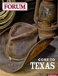 FGS FORUM 'Gone to Texas' Issue Available Now! #genealogy