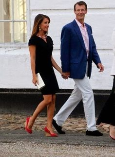 MYROYALSHOLLYWOOD FASHİON:  Danish Royal Family attended a poetry reading by Prince Henrik, Chapel of Graasten Palace, July 24, 2014-Princess Marie and Prince Joachim