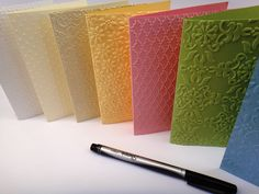 handmade embossed greeting card set,  simple pretty elegant birthday card, thank you card, thinking of you or sympathy cards, great gift. $12.00, via Etsy.