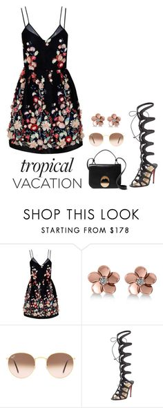 """""""Sans titre #188"""" by oceanecarrico ❤ liked on Polyvore featuring The 2nd Skin Co., Allurez, Ray-Ban, Christian Louboutin, Marni and TropicalVacation"""