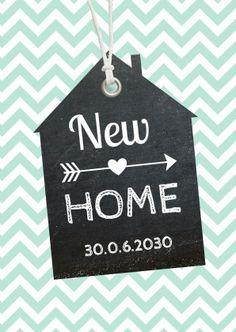 Verhuiskaart zigzag mint, verkrijgbaar bij #kaartje2go voor € 0,99