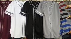Baseball-Negro Leagues 78129: Gray Baseball Jersey Mens Blank Baseball Jersey Fashion Casual Jersey S-3X #1 -> BUY IT NOW ONLY: $42.75 on eBay!