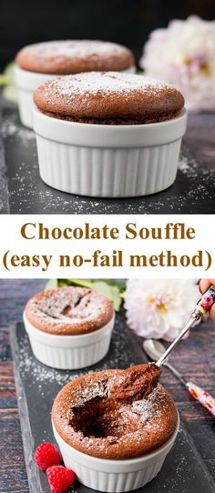 This decadent chocolate souffle is dark and intense in flavor, yet light and silky in texture. my easy step-by-step process to master how to make a chocolate souffle like a French pastry chef. via littlesweetbaker Decadent Chocolate, Chocolate Desserts, Chocolate Chip Cookies, Chocolate Desert Recipes, Easy Desert Recipes, Bakers Chocolate, Chocolate Cream, Desserts Français, French Desserts