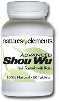 Advanced Shou Wu for Gray Hair  Chinese Herb Stimulates Hair Growth  Most Powerful Shou Wu Available  700mg Tablets  All the Benefits of Original He Shou Wu Plus 10 More Hair Nourishing Vitamins and Herbs * You can find more details by visiting the image link.