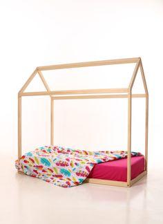 Hochbetten - 100x 200 Kinderbett Rahmen ,Kinder Bettrahmen Haus - ein Designerstück von meiddeco bei DaWanda