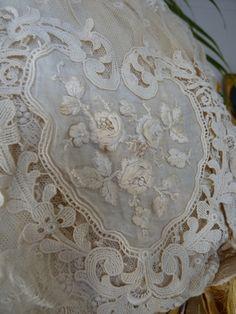 Detail of Edwardian Wedding Dress, ca. 1910