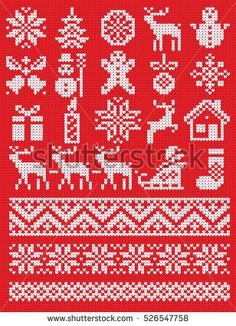 Trendy knitting charts patterns fair isles crochet Trendy knitting charts patterns fair isles crochet Always wanted to figure out how to knit, nevertheless unclear the. Crochet Christmas Stocking Pattern, Knitted Christmas Stockings, Christmas Knitting Patterns, Fair Isle Knitting Patterns, Knitting Charts, Crochet Patterns, Knitting Socks, Free Knitting, Knit Socks