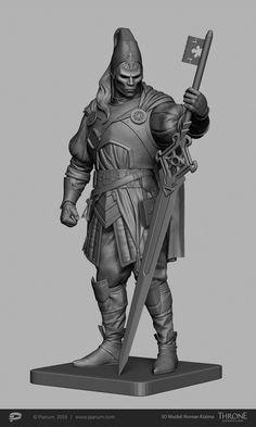 ArtStation - Inquisitor 3d model , Roman Kizima Roman Sculpture, Zbrush, Batman, Costumes, Superhero, Artwork, 3d Modeling, Fictional Characters, Rugby