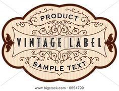 vintage label shape