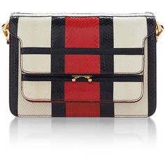 Marni Red Striped Water snake Shoulder Bag (15.920 RON) ❤ liked on Polyvore featuring bags, handbags, shoulder bags, leather man bag, leather shoulder handbags, shoulder handbags, woven leather handbag and handbags & purses