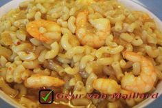 Macaroni met garnalen in kerrie-uiensaus - Geur van Maillard - www.maillard.nl