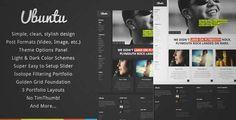 Ubuntu - Creative Portfolio Wordpress Theme | DOWNLOAD & REVIEW
