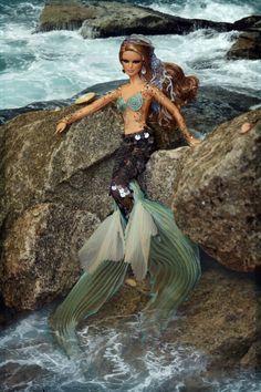 Mermaid beach fantasy. In this photo: The Mermaid Barbie® doll.