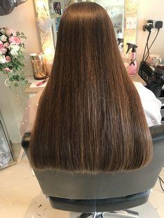 Long Silky Hair, Long Dark Hair, Thick Hair, Bun Hairstyles For Long Hair, Straight Hairstyles, Long Blunt Hair, Natural Hair Styles, Long Hair Styles, Hair Buns