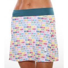 Distance Print Running Skirt