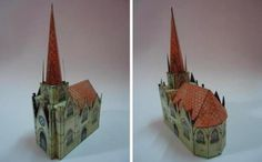 Medieval Cathedral Vintage Paper Model - by Mini Casitas