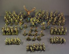 Possible Total War:Warhammer Factions The Wood Elves Army Warhammer Wood Elves, Warhammer Figures, Warhammer Aos, Warhammer Fantasy, Military Art, Military History, Wood Elf, Fantasy Races, Total War