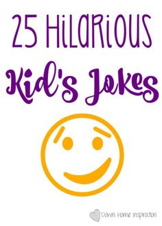 25 Hilarious Kids Jokes - Jokes - Funny memes - - 25 Hilarious Kid's Jokes Down Home Inspiration The post 25 Hilarious Kids Jokes appeared first on Gag Dad. Cute Jokes, Funny Jokes For Kids, Silly Jokes, Hilarious Jokes, Funny Humor, Kids Jokes And Riddles, Toddler Jokes, Cheesy Jokes, Funny Shit