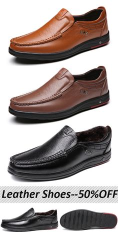 c419072297d513  50%OFF Mens Large Size Cow Leather Soft Sole Casual Shoes leather