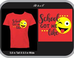 Back to School T-Shirt, Emoji T-Shirt