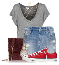 Funny day by candysweetieglam on Polyvore featuring polyvore fashion style MANGO Converse Lanvin Michael Kors lito clothing