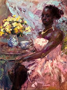 Artwork for sale from the award-winning artist Cynthia Rosen. You can choose from a wide collection of modern impressionist palette knife oil paintings, large landscape paintings. Painting People, True Art, African American Art, Impressionist, Amazing Art, Landscape Paintings, Figurative, Drawings, Artwork